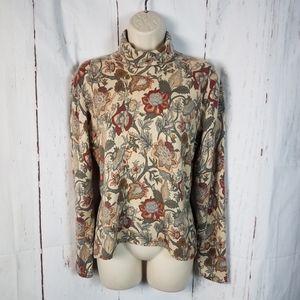 Neiman Marcus m/l Botanical Cashmere Sweater